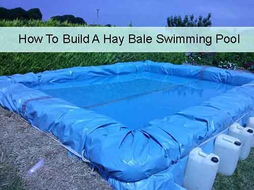 How To Build A Hay Bale Swimming Pool - LivingGreenAndFrugally.com
