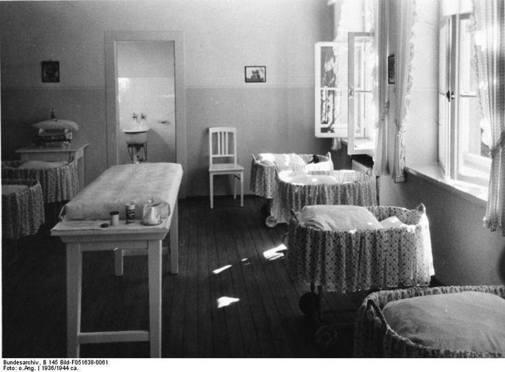 Infant room at a Lebensborn facility, Germany, 1936
