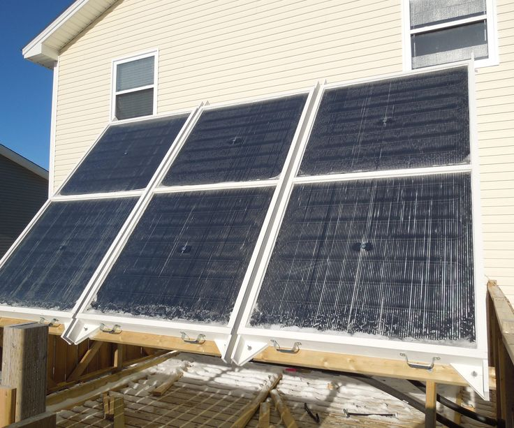 This is a collection of photos showing my Hydronic Solar Thermal System that I use for winter space heating. The heart of the system is an array of flat panel solar thermal collectors that heat up water when the sun is shining on them. The heated water is circulated through pex radiant in-floor heating loops underneath my kitchen floor. The result is 3000 to 4500 watts of free heat delivered to the inside of my home during sunny periods. At this present time, the system is up and running…