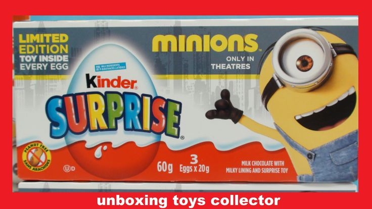 Minions 2015 Fun Toys Kinder Surprise Eggs Review Find their Name Despic...