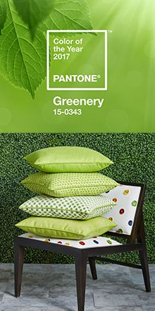 Greenery 2017 Pantone Color of the Year - Kravet fabrics available through Gabberts
