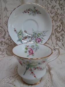 Vintage PARAGON Budgies Bone China TEA CUP & SAUCER Princess Margaret England   eBay