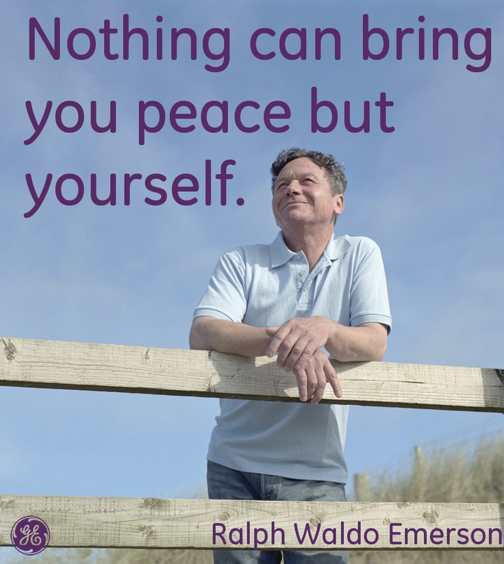 nothing can bring you peace but yourself essay