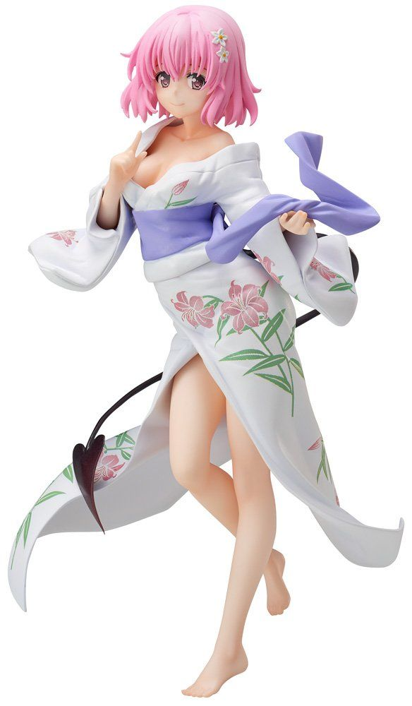 FREEing To Love-Ru Darkness: Momo Belia Deviluke PVC Figure (Yukata Version) Statue. A FREEing import. From the popular anime series. Features Momo in a beautiful yukata. Collect the Golden Darkness yukata figure (sold separately) to accompany her.