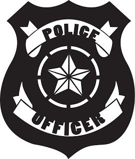 Police Badge Free Cut-file (download in silhouette)