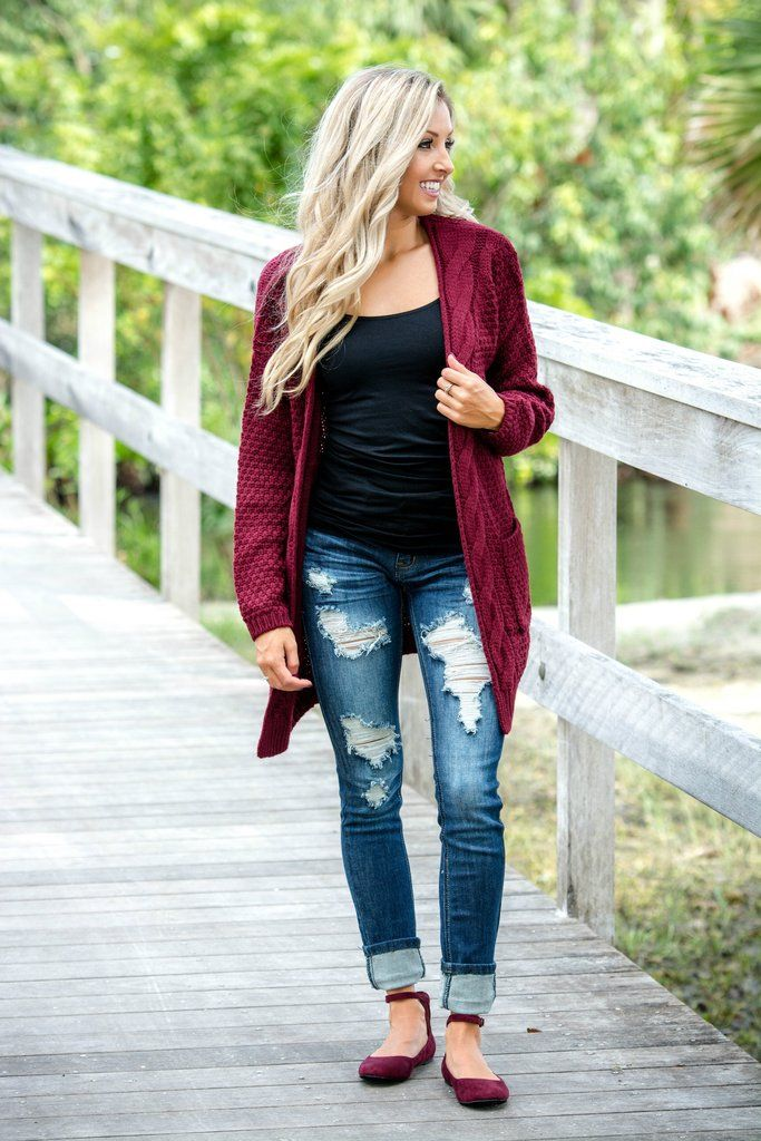 Keeping it Cozy Burgundy Cardigan Sweater Shop Simply Me Boutique – Simply Me Boutique