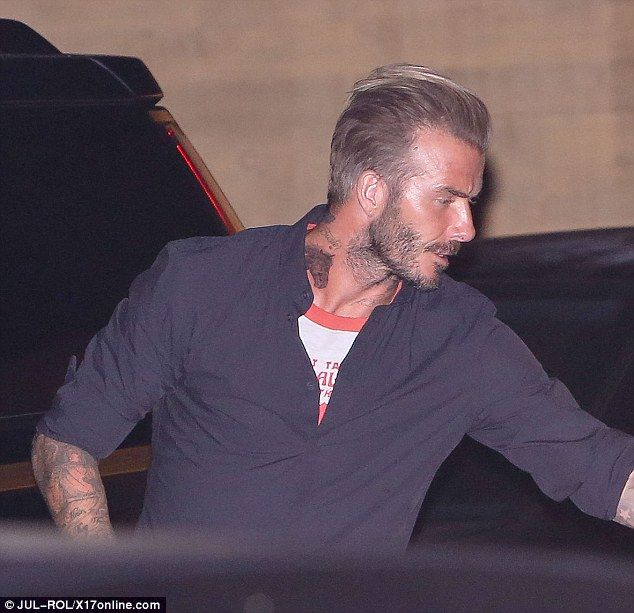 New addition: The star debuted a new horse tattoo on his neck which takes his total to more than 40 inkings now