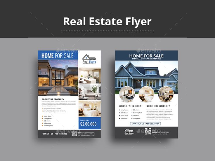 #Real #Estate #Flyer – Creative Touchs  This Real Estate Flyer Template is a great tool for promoting your real estate business also useful for a realtor or a real estate agent. You can use it for real estate listings, advertising homes or property for sale,or houses for rent. Fully editable template, you can add images of your choice and change the texts.