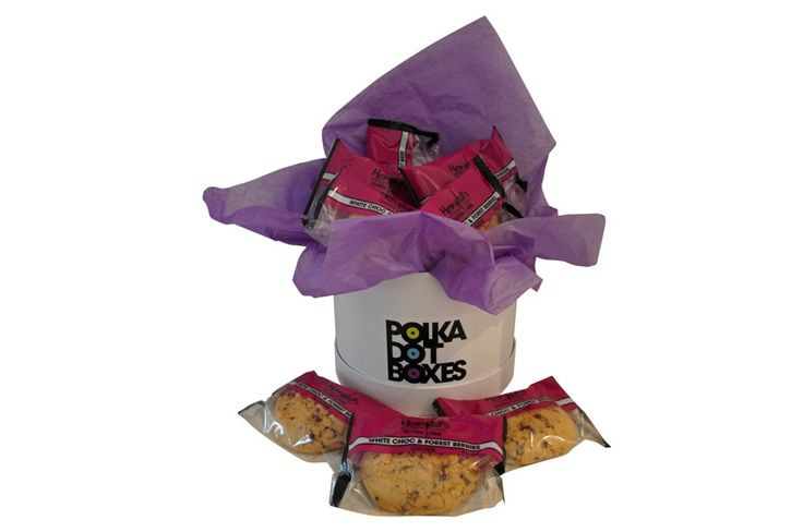 Gluten Free White Choc & Berry Cookie Box