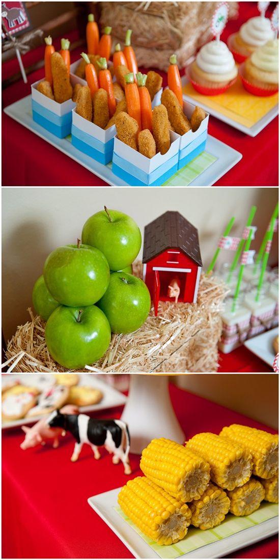Farmer Barnyard Party Food Display