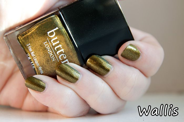 Wallis from the Butter London Fall 2011 collection. An burnt olivey metallic.