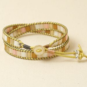 Another wrap bracelet with Tila beads