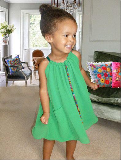 Mia  emerald green halter neck dress by annieandtom on Etsy, £55.00