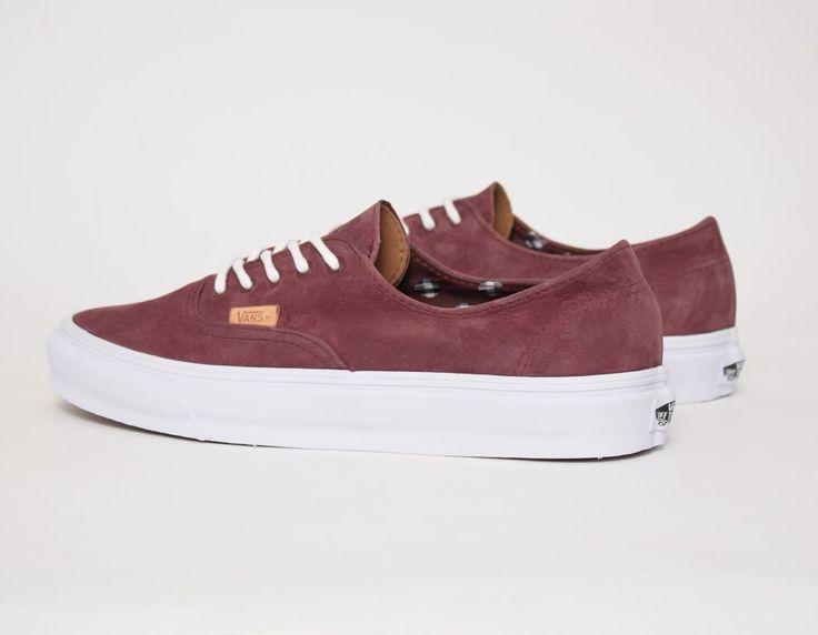 #Vans Authentic Decon CA Burgundy #sneakers