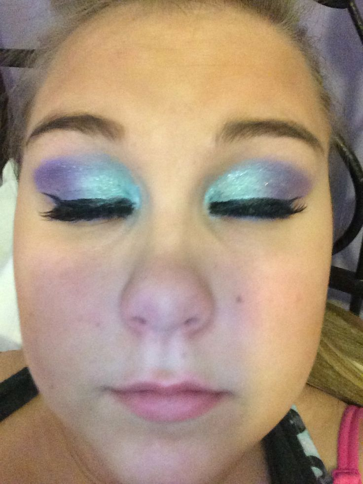 Rave/ peacock makeup look