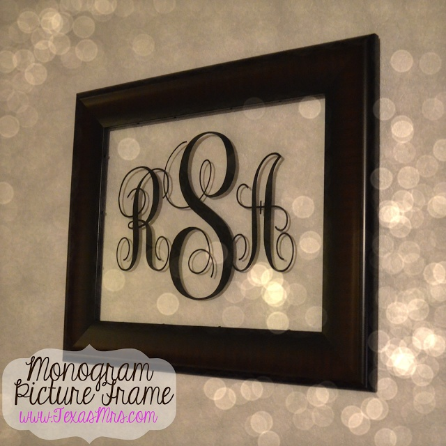 DIY: Monogram Picture Frame - By - Texas Mrs.