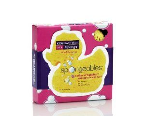 Spongeables Kids Ducky, 2-Ounce (Pack of 3) by Spongeables. $13.86. No slippery soap, no rough washcloths. children ages 3 and up. convenient for mom fun for tots. Shower gel in a sponge with yellow ducky shape.