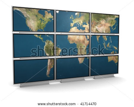 http://www.shutterstock.com/pic-41714470/stock-photo--d-illustration-of-tv-wall-with-world-map-on-it.html