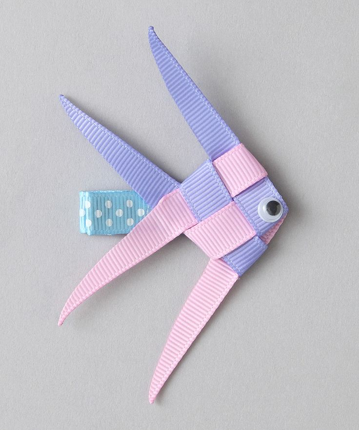 Take a look at this Bubbly Bows Pink Angelfish Clip on zulily today!