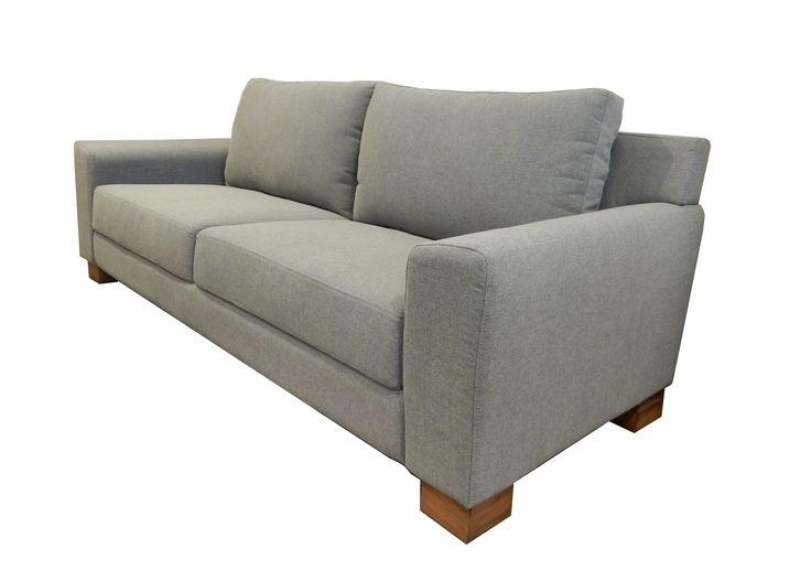 Sof boston en tres cuerpos 220x90cm tapizado en for Sofa cama de dos cuerpos