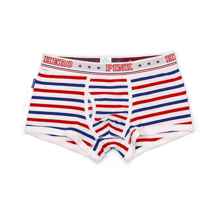 PINK HERO The Stars Do Not Fade Stripe Printing Couple Underwear Men's Boxer Cotton Boxer Homme Boxer Factory wholesale
