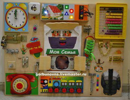 """Развивающие игрушки ручной работы. Ярмарка Мастеров - ручная работа. Купить Бизиборд Развивающий Модуль Доска  """"Универсальный Тренажёр""""+штекеры. Handmade."""