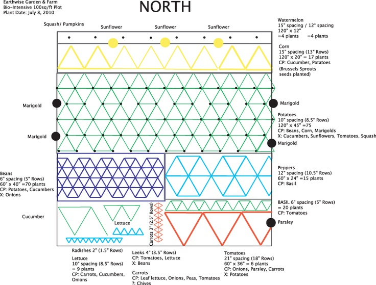 example biointensive garden layout - 50 Best Garden Layout Images On Pinterest Veggie Gardens