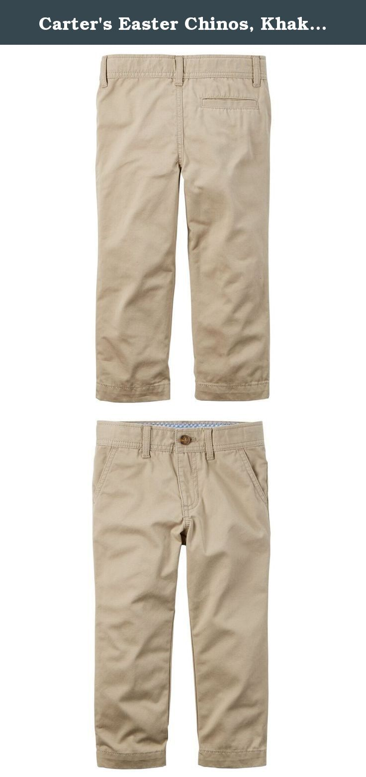 Carter's Easter Chinos, Khaki, 24 Months. Carter's is the leading brand of children's clothing, gifts and accessories in America, selling more than 10 products for every child born in the u.S. Their designs are based on a heritage of quality and innovation that has earned them the trust of generations of families.
