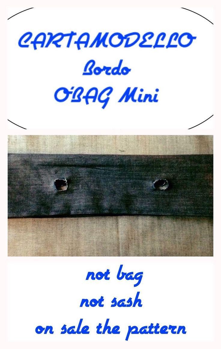 Cartamodello o'bag (carta modello) bordo obag mini di TitaHandmadeshop su Etsy
