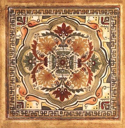 Italian Tile IV at FramedArt.com