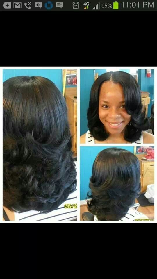 Partial Sew In W/ Razor Cut