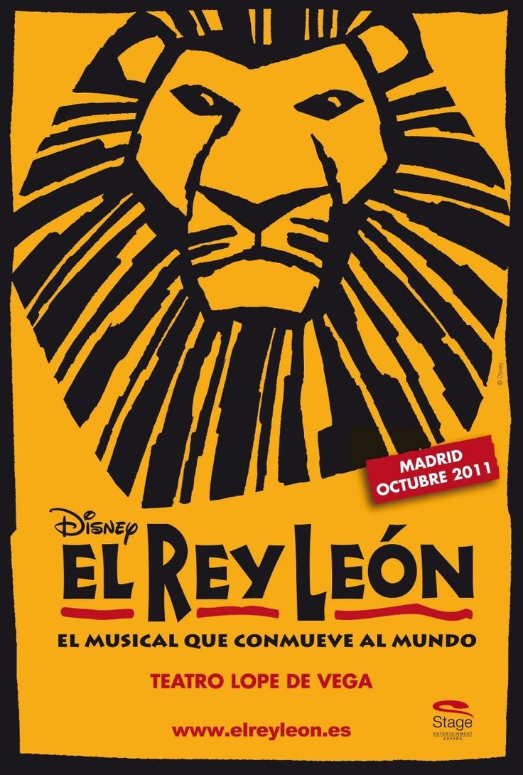 """""""El Rey León"""" ... Madrid, ES premiere ...  Teatro Lope de Vega, 2011"""