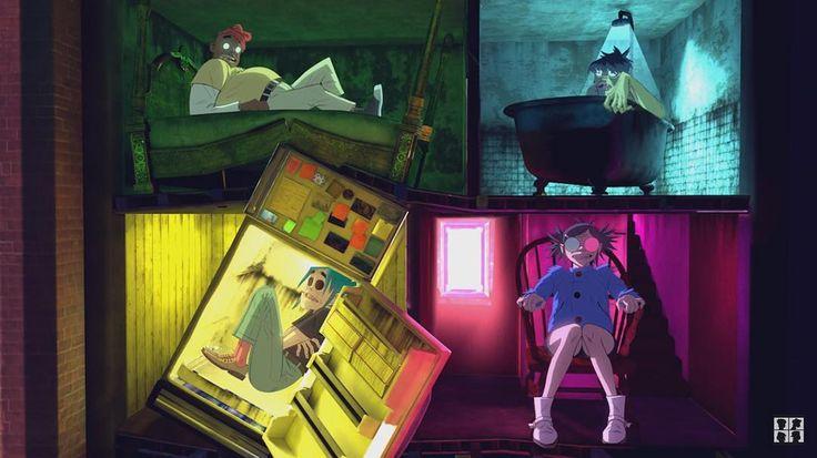 Russel, Murdoc, Noodle and 2D | Saturnz Barz - Gorillaz. #Humanz