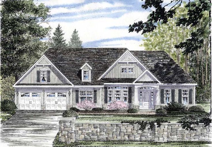 Cape cod cottage country ranch house plan 94188 dream for Cottage ranch house plans