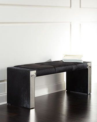 Drake+Hairhide+Bench+by+Bernhardt+at+Horchow.