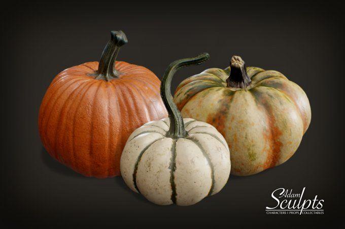 Pumpkin Selection 01 by Adam Sculpts on @creativemarket