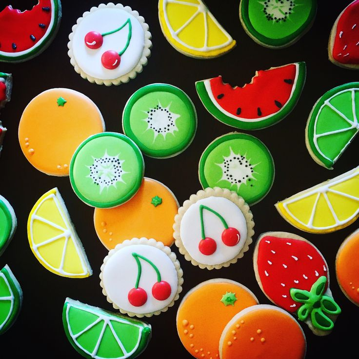 A personal favorite from my Etsy shop https://www.etsy.com/listing/527512816/colorful-fruit-cookies