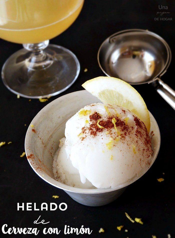 helado de cerveza con limón, ración : via MIBLOG
