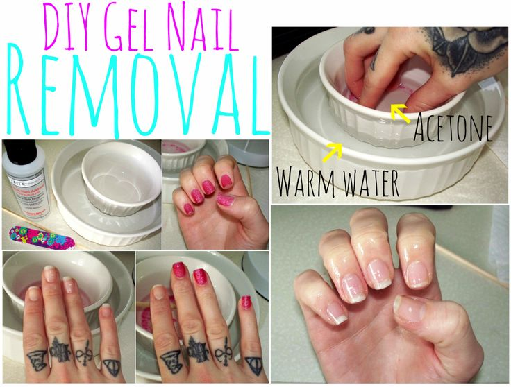 Forget the foil and cotton ball method.This is the easiest way to remove gel nails.