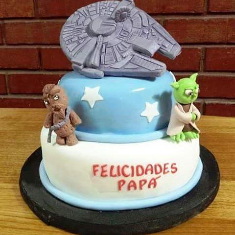 #MillenniumFalcon #StarWars #Fondant #cake by Volován Productos #Puq #Chile ##VolovanProductos