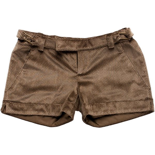 Pre-owned Just Cavalli Velvet Mini Shorts ($45) ❤ liked on Polyvore featuring shorts, bottoms, brown, buckle shorts, brown short shorts, hot shorts, mini shorts and velvet shorts