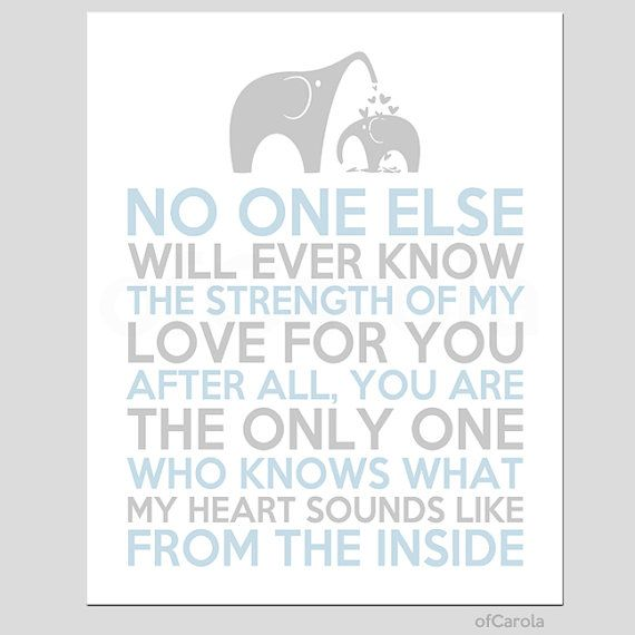 No One Else Will Ever Quote Boys Girls Baby Nursery by ofCarola, $15.00