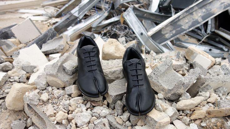 Tabi Toe Sneakers in Black Booker & co