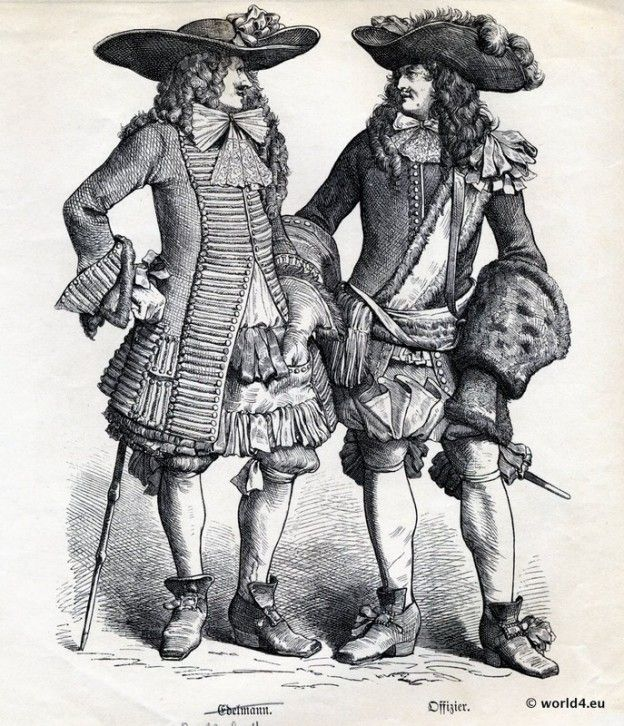 French Baroque Costumes, Nobility 1680