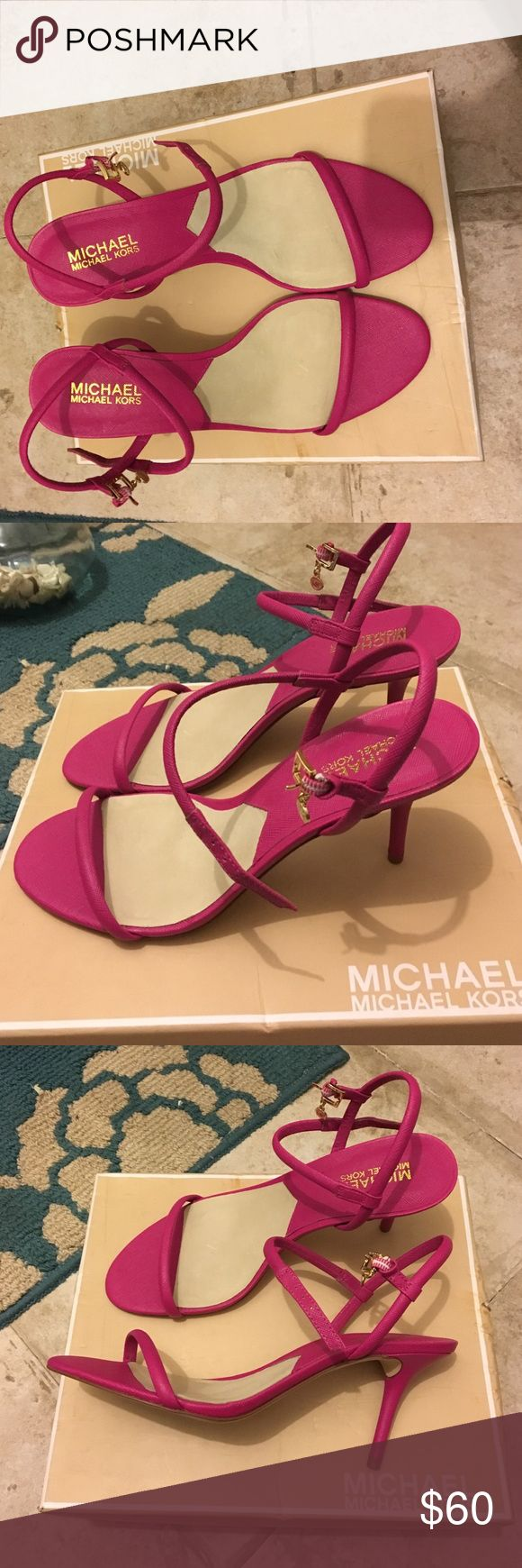 Michael kors - Carlene sandal size 9. Selling my Michael kors Carlene sandals i purchased from Macy's. I wore these in an indoors wedding reception (carpet area) so barely any scrapes on the bottom, almost like Brand new! MICHAEL Michael Kors Shoes Sandals