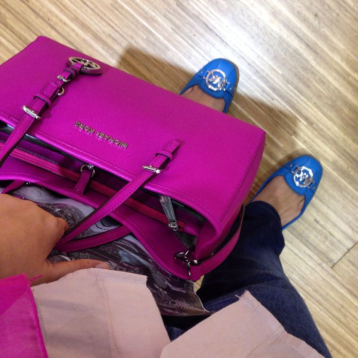 My colours of summer blue and fuschia All by Michael Kors
