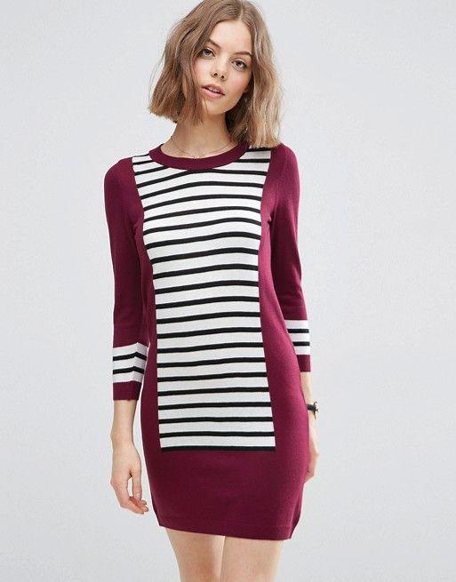 ASOS | Трикотажное платье колор блок ASOS