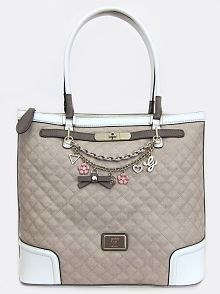 Amour Large Tote Bag, Stone Multi  by GUESS
