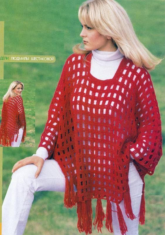 Ponchos Crochet with free charts