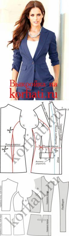 Выкройка жакета на подкладке от Анастасии Корфиати